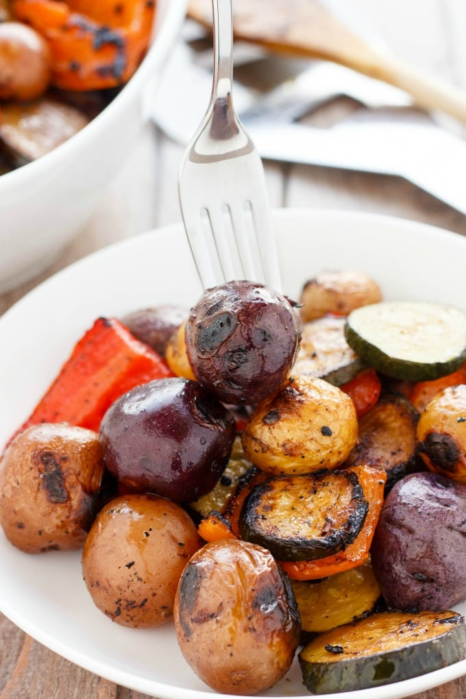 A plate of potatoes