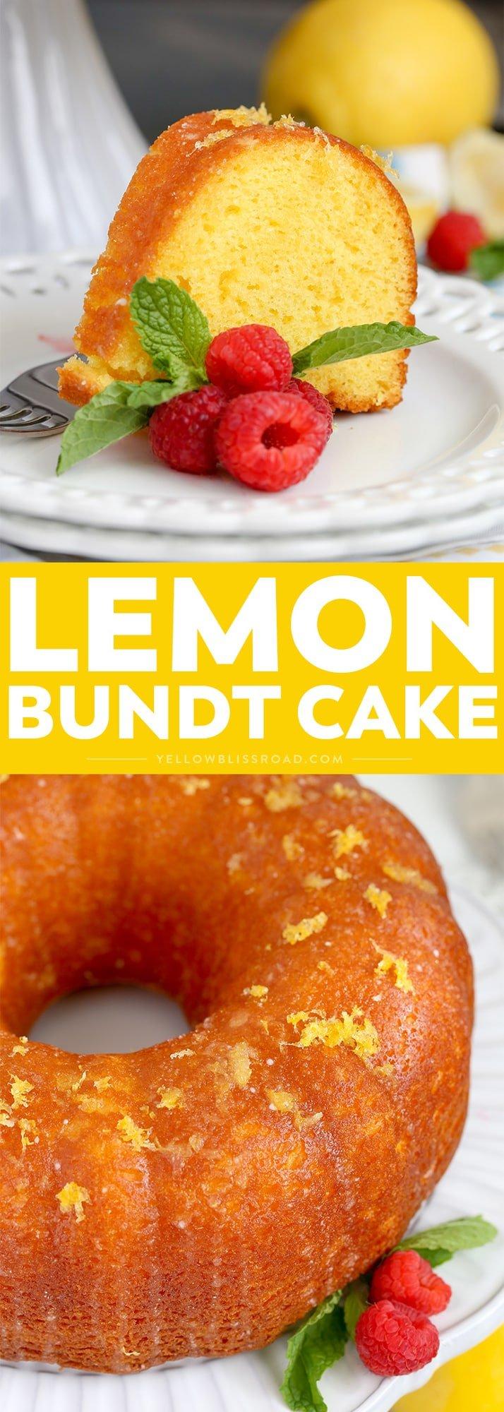 Lemon Bundt Cake - Intensely flavored lemon cake finished with a unique glazing technique to lock in even more lemon flavor. It's the best summer dessert!