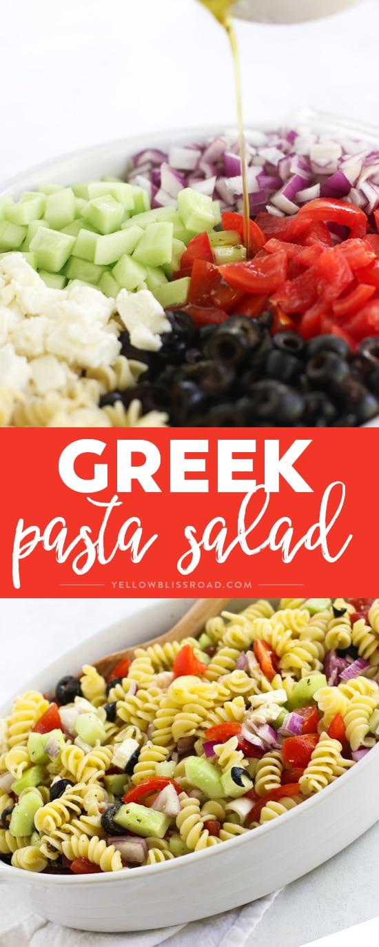 Social media image of Greek Pasta Salad