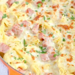One Pan Ham & Cheese Tortellini