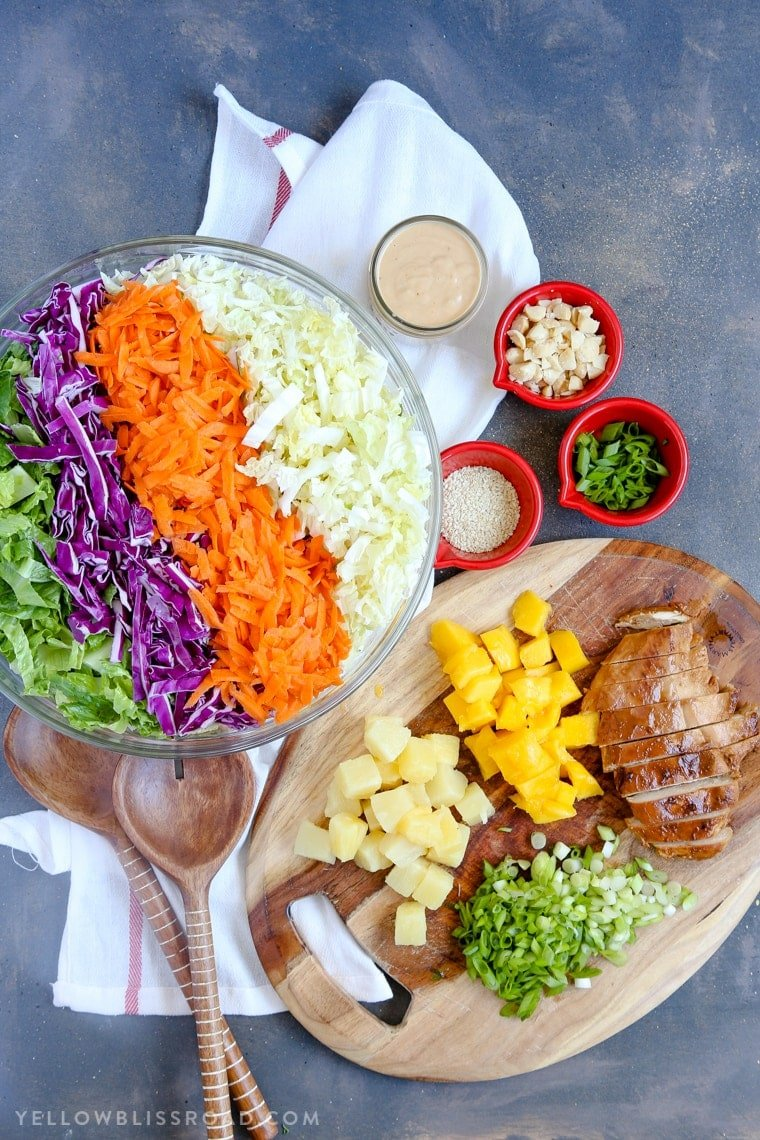 Hawaiian Barbecue Chicken Chopped Salad