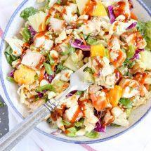 Hawaiian Barbecue Chicken Chopped Salad