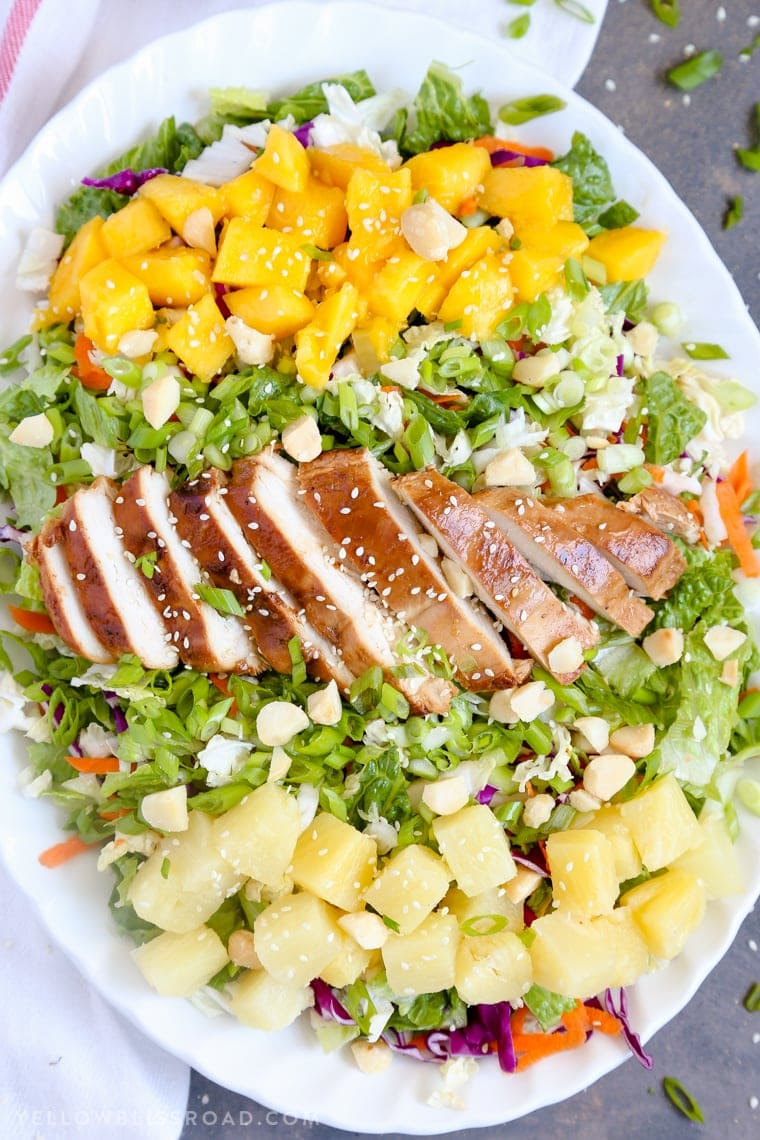 A plate of Salad and Chicken