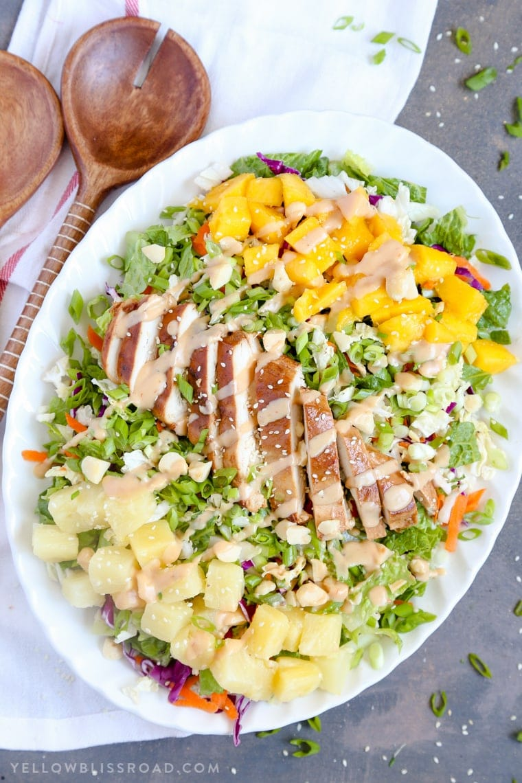 Hawaiian Barbecue Chicken Chopped Salad With Creamy Pineapple