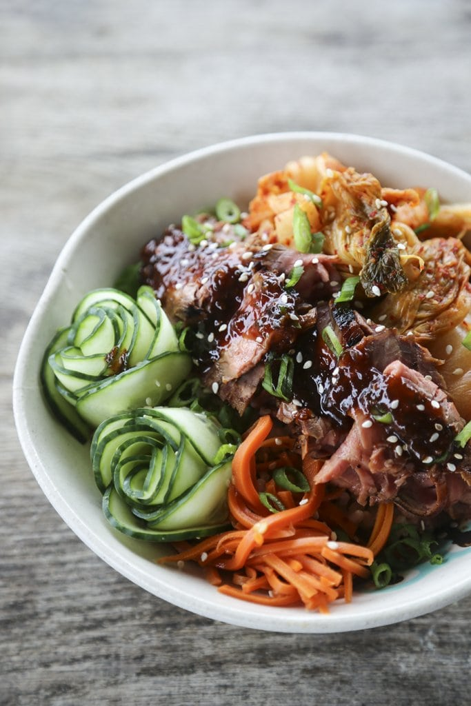 A bowl of Beef, Rice, and Veggies