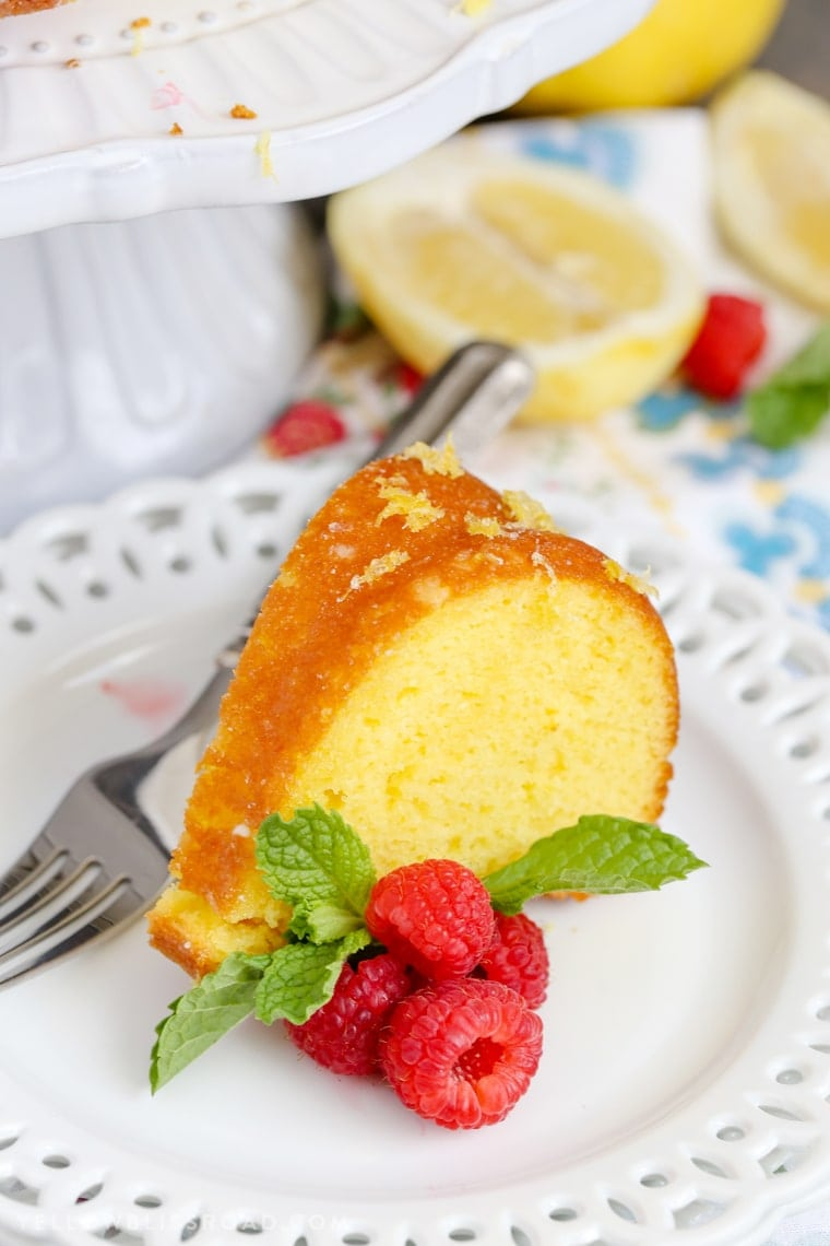 Lemon Bundt Cake - Intensely flavored lemon cake finished with a unique glazing technique to lock in even more lemon flavor. It's the best summer dessert!