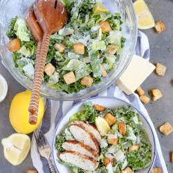 Lemon Kale Caesar Salad