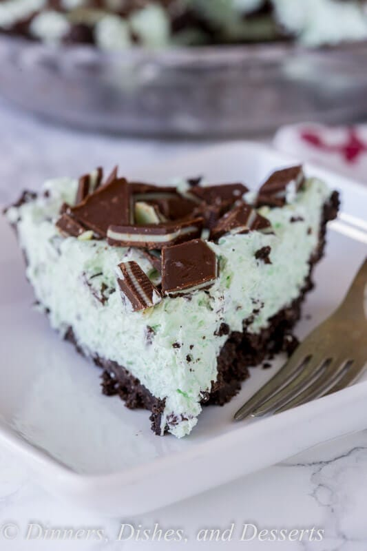 A close up of a slice of cake on a plate