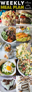 A collage of different types of food