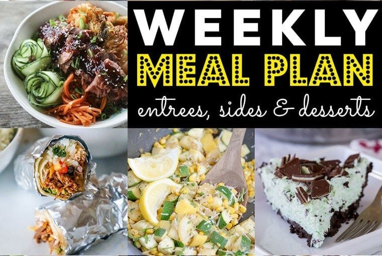 Weekly Meal Plan #67