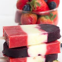Red White and Blue Berry Yogurt Pops