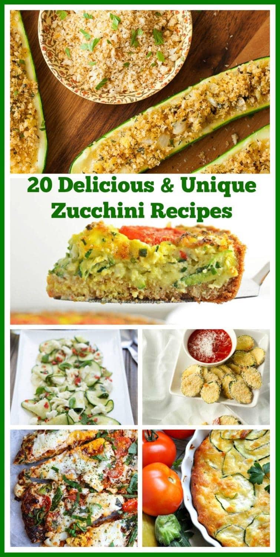 A collage of 20 Zucchini Recipes