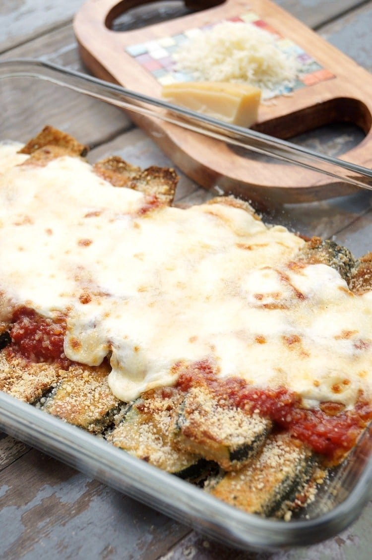 A dish of zucchini parm