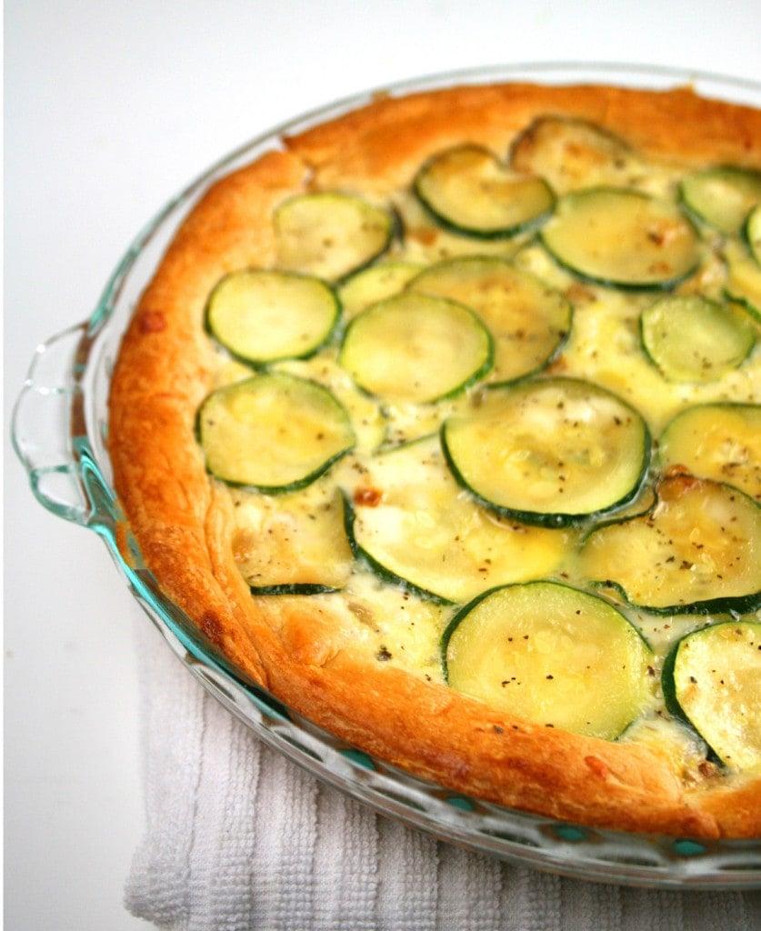 Zucchini pie in a dish