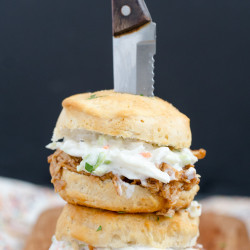 Barbecue Chicken Biscuit Sandwiches