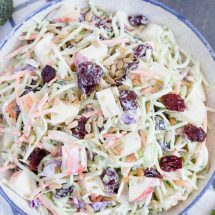 Broccoli Slaw with Apples and Dried Cherries