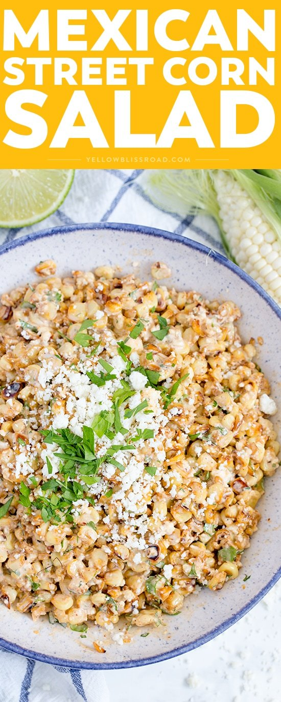 Mexican Street Corn Salad is super creamy with tons of flavor - it's everything you love about the street corner classic in a delicious summer side dish.