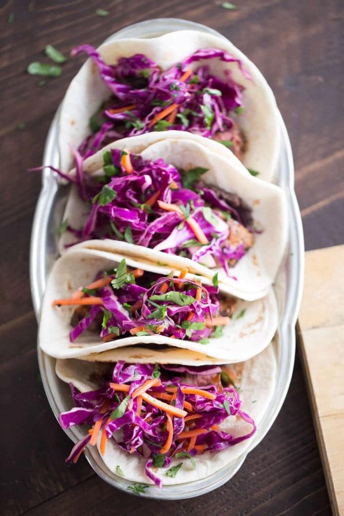 Close up of tacos