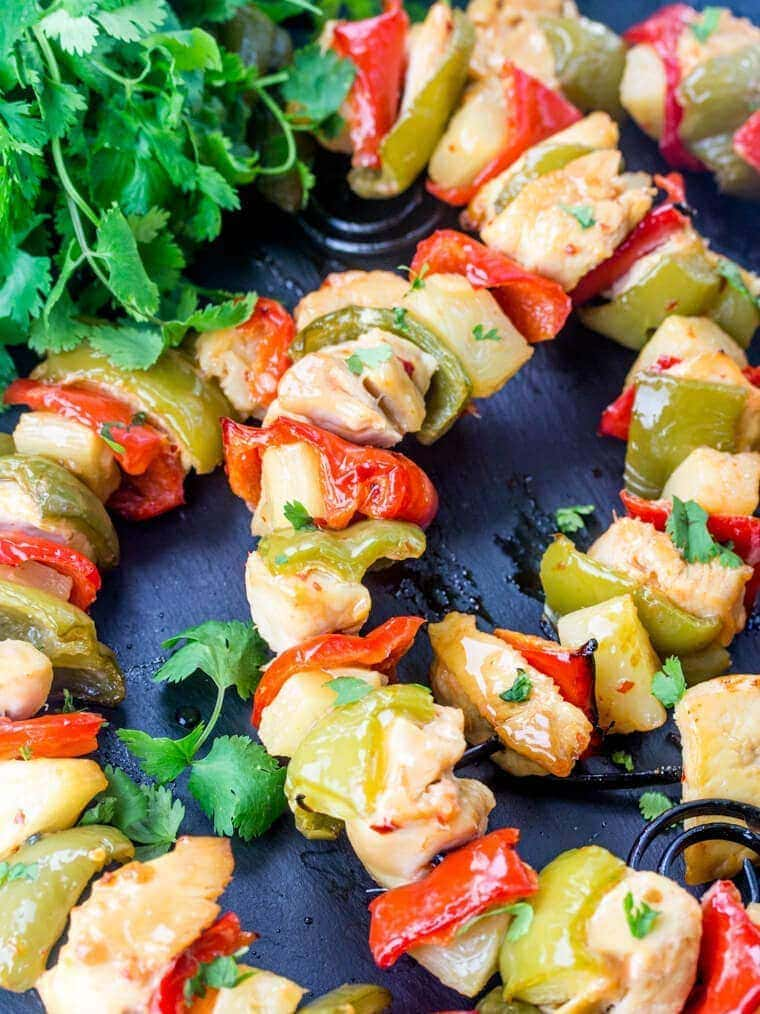 Hawaiian Chicken Kebabs - Quick, tasty and perfect for summer grilling!