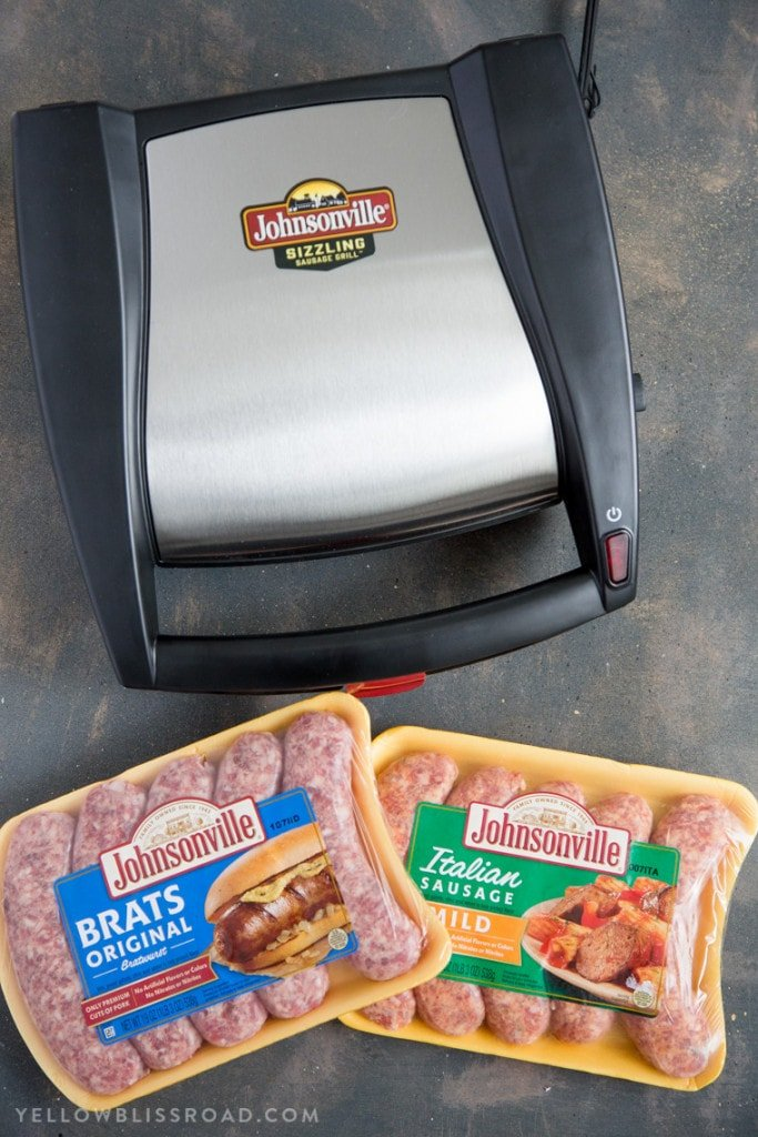 The new Johnsonville Sizzling Sausage Griller is the perfect gift for Dad this Father's Day! (ad)