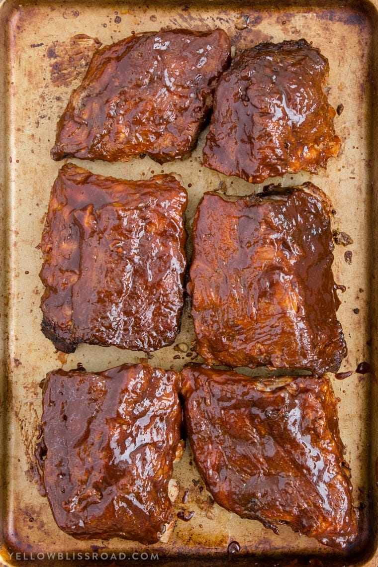Slow Cooker Barbecue Baby Back Ribs are rubbed with a smoky-sweet spice blend and cooked in the crockpot until they are fall off the bone tender.