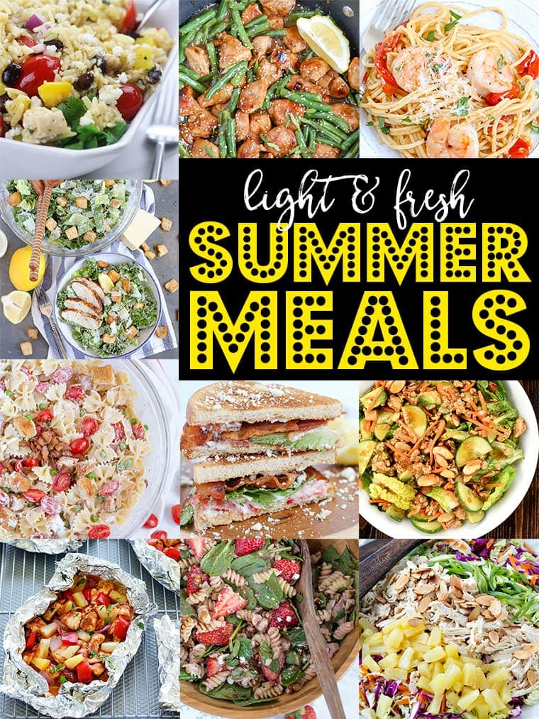 These family friendly recipes will have everyone excited about summer dinners, and they're perfect for dining al fresco, too!