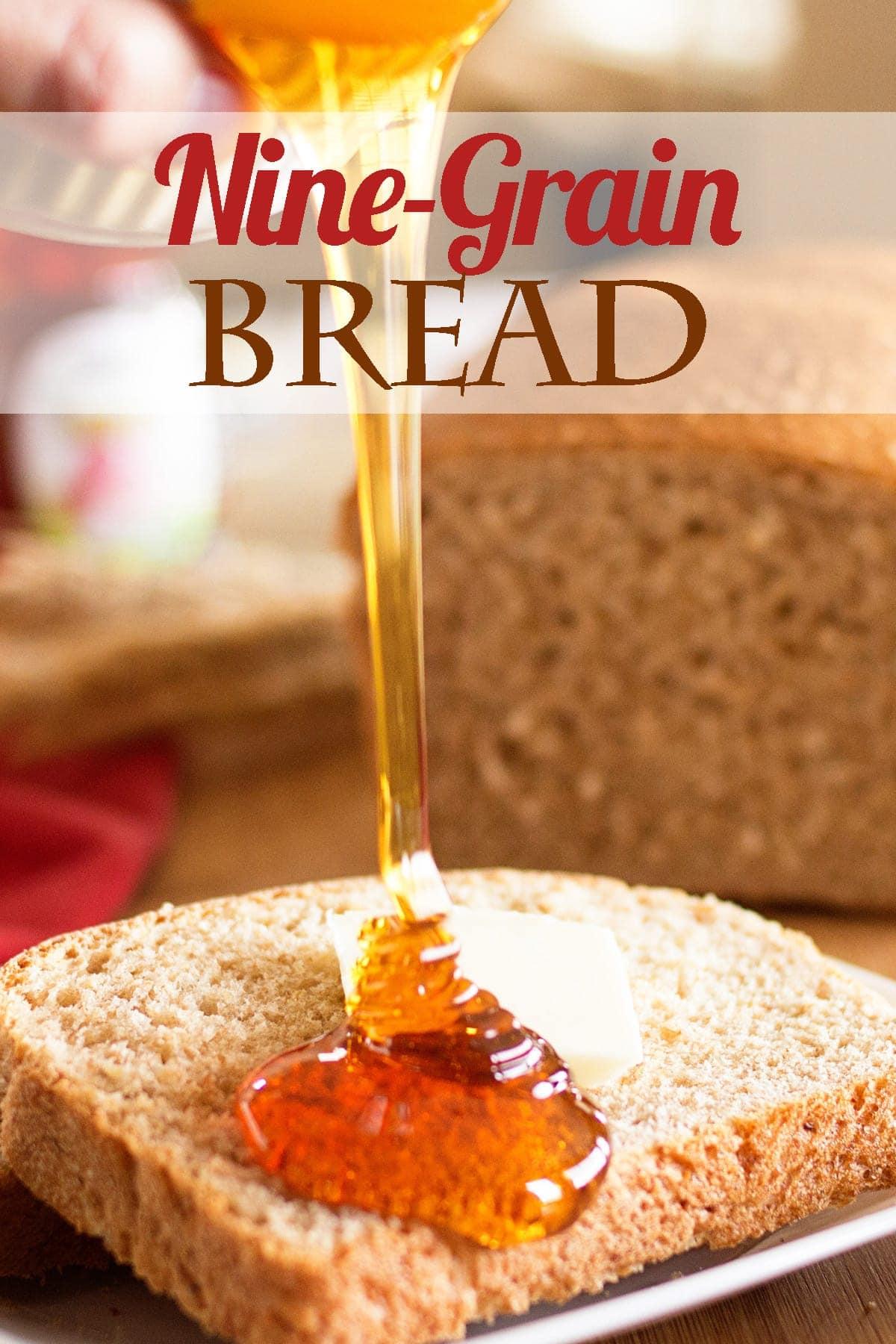 Social media image of bread with honey