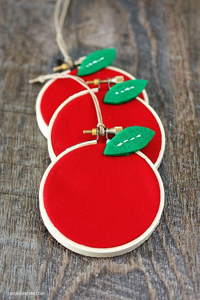 Homemade apple gift for teacher