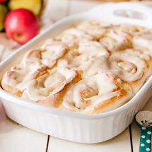Apple Walnut Cinnamon Rolls