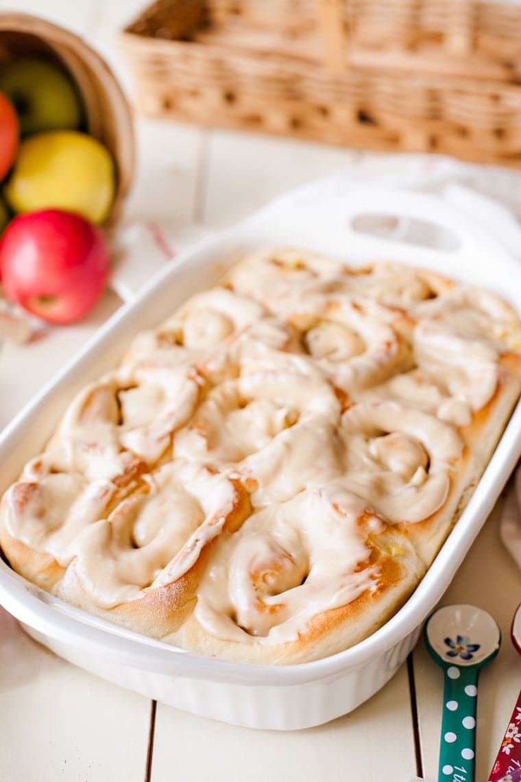Welcome fall with these super soft, Apple Walnut Cinnamon Rolls. Perfect for breakfast, brunch, or any time of day!
