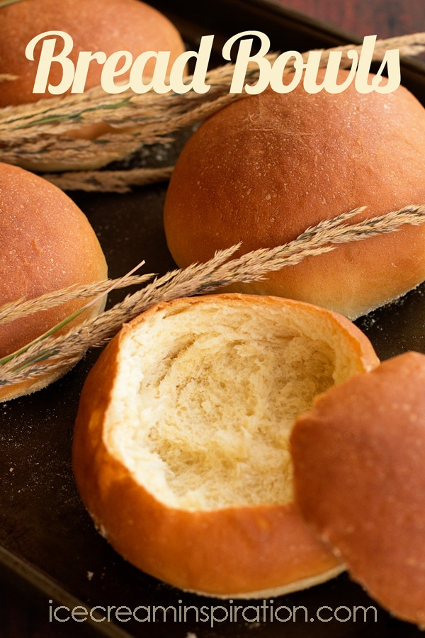 Close up of bread bowls