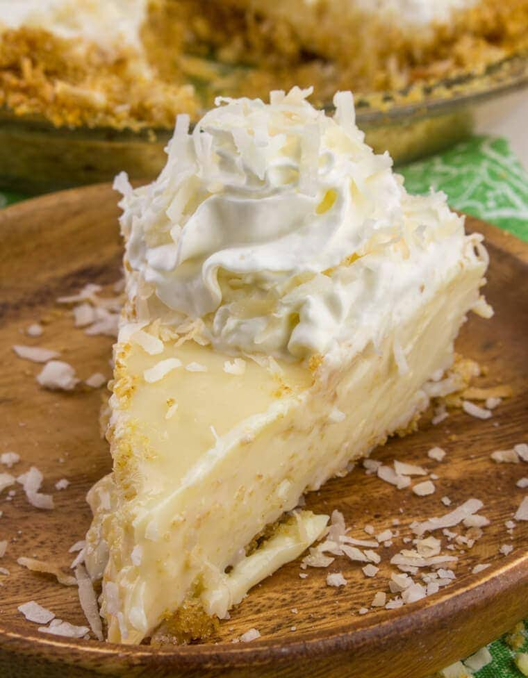 Coconut Key Lime Pie with Coconut Graham Cracker Crust
