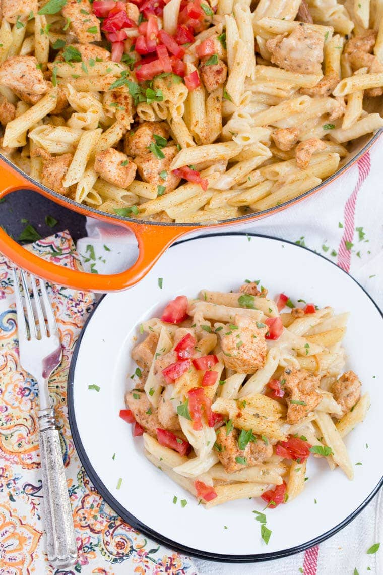 This Creamy Cajun Chicken Pasta, with a homemade cajun seasoning is sure to become an instant favorite for weeknight dinners.