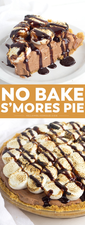 Social media image for No Bake S\'mores Pie