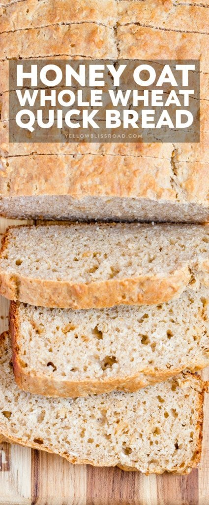 Easy, Savory Honey Oat Quick Bread with Whole Wheat