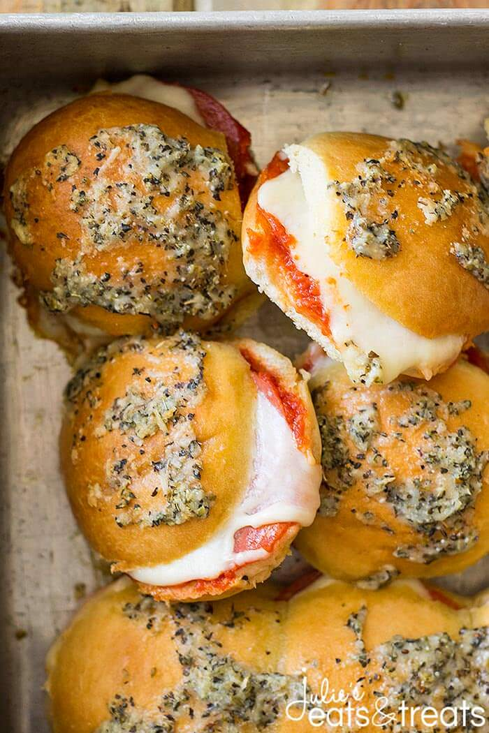 A close up of Pizza Sliders