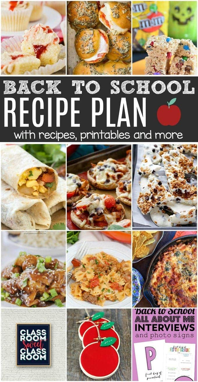 This Back To School Recipe Plan will check off all the boxes on your to-do list with lots of easy weeknight meals, desserts and crafts!