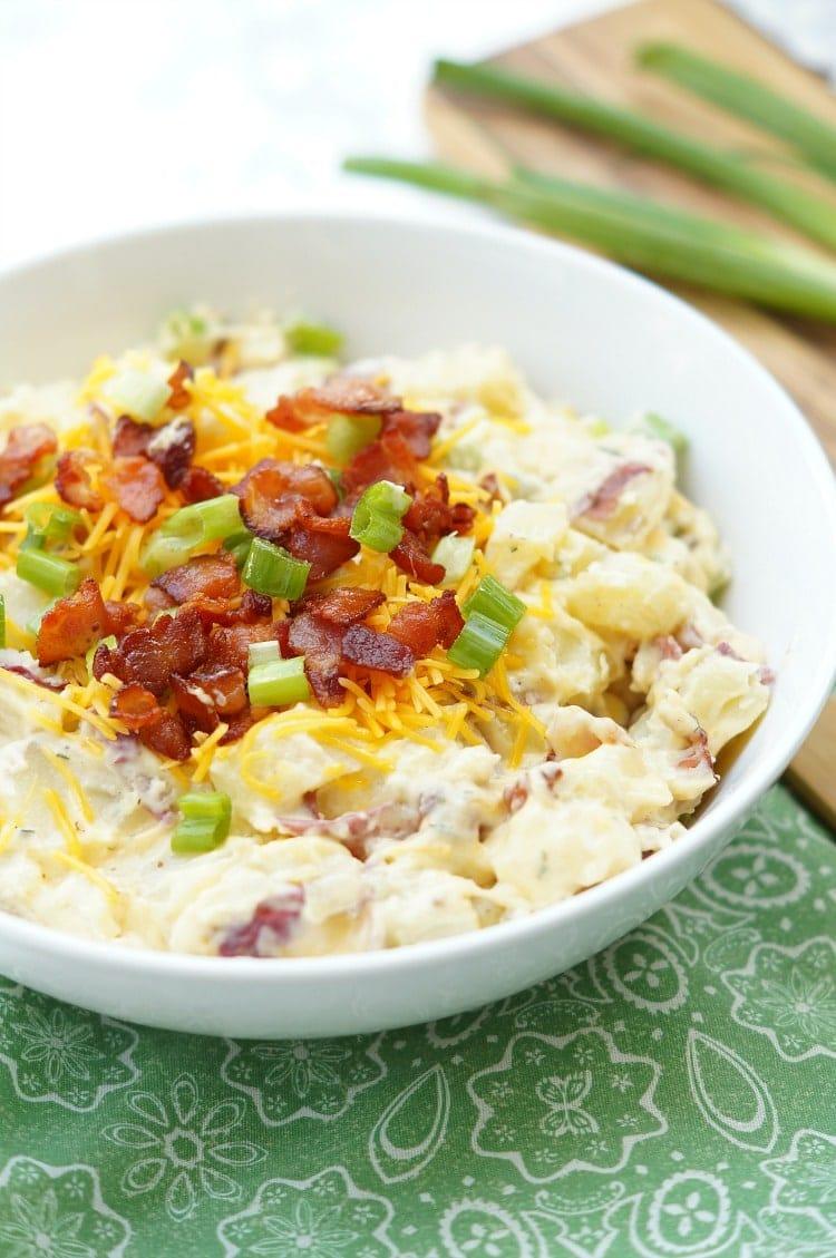 A bowl of potato salad