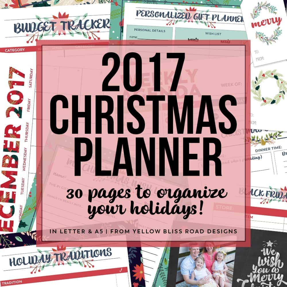 Organize the holidays with this gorgeous Christmas Planner