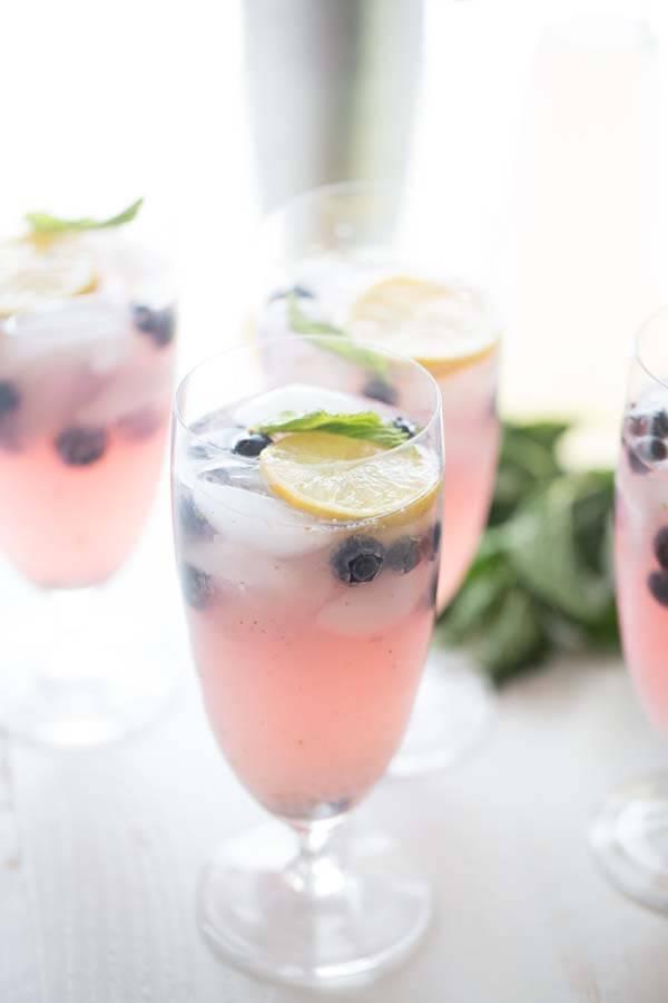 A glass of Blueberry Lemonade