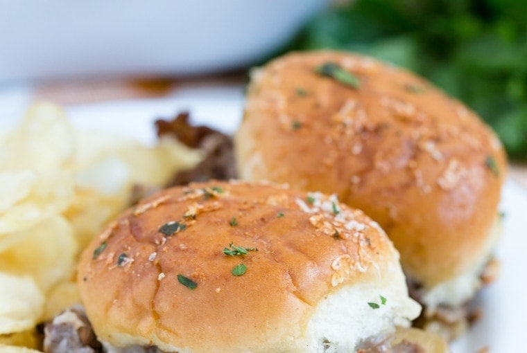 Caramelized Onion and Asiago Roast Beef Sliders