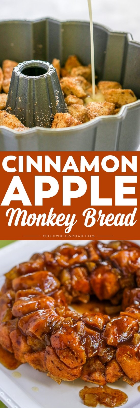 This Cinnamon Apple Monkey Bread is the perfect combination of fall flavors packed in a decadent breakfast treat!