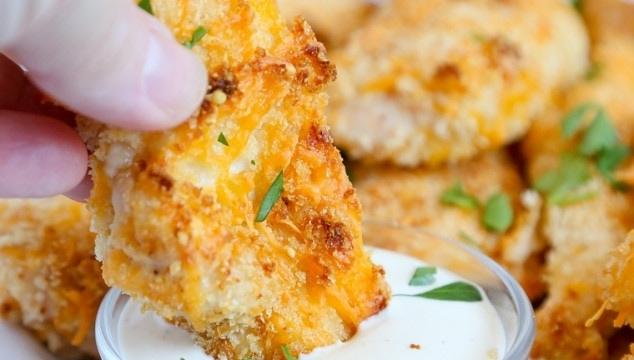 Crispy Cheesy Baked Chicken Tenders