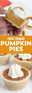 Social media image of Mini Maple Pumpkin Pies