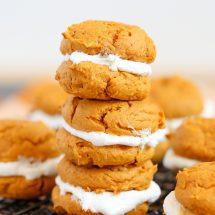 Pumpkin Cookie & Marshmallow Whoopie Pies
