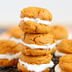 Pumpkin Cookie & Marshmallow Whoopie Pies