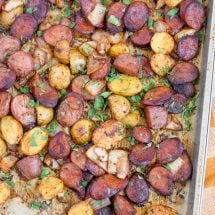 Smoked Sausage and Potato Sheet Pan Dinner
