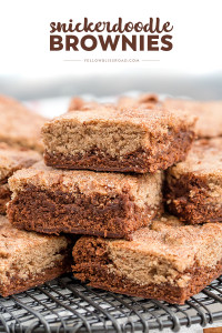 Stack of snickerdoodle brownies
