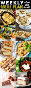 Weekly Meal Plan Week 81– 10 great bloggers bringing you a full week of recipes including dinner, sides dishes, and desserts!