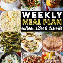 Weekly Meal Plan #84